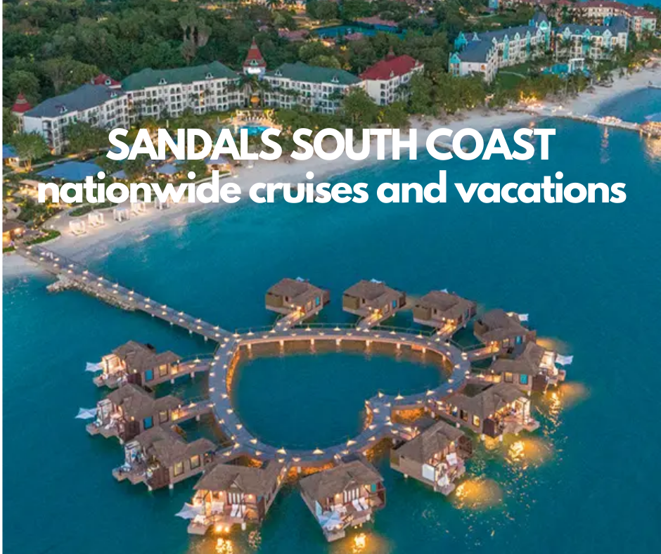 Sandals all inclusive south coast jamaica over the water bungalows